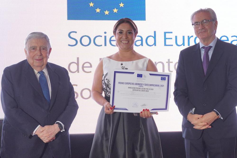 Inmaculada Palomo, Premio Europeo al Liderazgo Europeo y Éxito Empresarial 2021